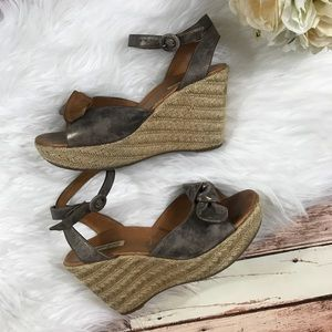 Paul green espadrille bow wedges